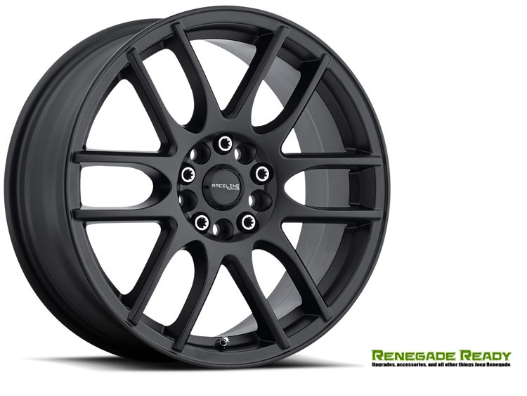 "Jeep Renegade Custom Wheels - Raceline - 141 - 17""x7.5"" - Mystique Black"