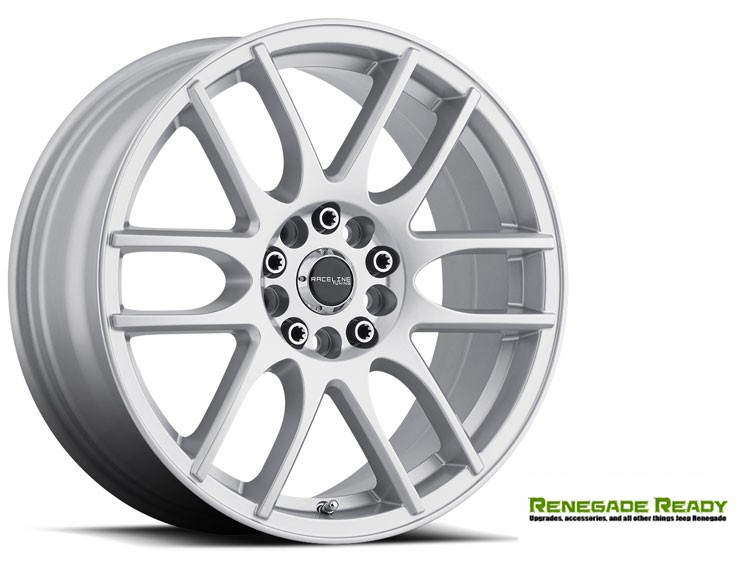 "Jeep Renegade Custom Wheels - Raceline - 141 - 18""x7.5"" - Mystique Silver"