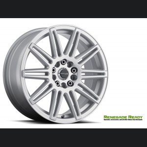 "Jeep Renegade Custom Wheels - Raceline - 143 - 17""x7.5"" - Cobalt Silver Gloss"