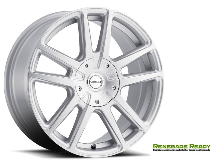 "Jeep Renegade Custom Wheels - Raceline - 145S - 15""x7"" - Encore Silver Finish"