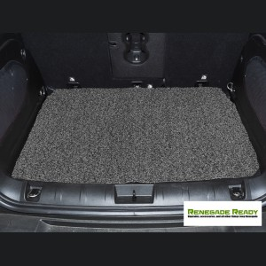 Jeep Renegade All Weather Cargo Mat - Custom Rubber Woven Carpet - Black and Grey