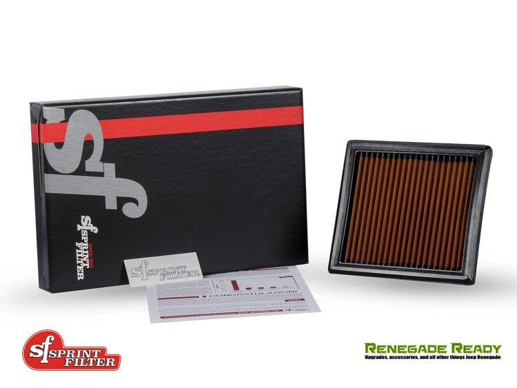 Jeep Renegade Performance Air Filter - 1.4L Turbo - Sprint Filter