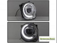 Jeep Renegade Projector Headlights w/ DRL Light Bar - Spyder Auto - xTune - Chrome
