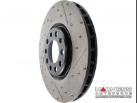 Jeep Renegade Performance Brake Rotor - StopTech - Drilled + Slotted - Front Right