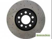 Jeep Renegade Performance Brake Rotor - StopTech - Drilled + Slotted - Rear Left