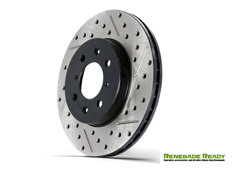 Jeep Renegade Performance Brake Rotor - StopTech - Drilled + Slotted - Front Left