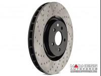 Jeep Renegade Performance Brake Rotor - Drilled + Vented - Front Left