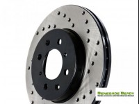Jeep Renegade Performance Brake Rotor - Drilled + Vented - Front Right