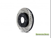 Jeep Renegade Performance Brake Rotor - Drilled - Rear Left