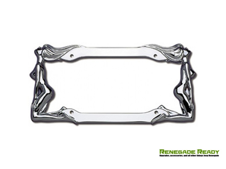 License Plate Frame - Chrome w/ Chrome Twins