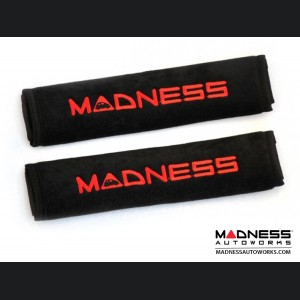 Seat Belt Shoulder Pads - MADNESS Logo
