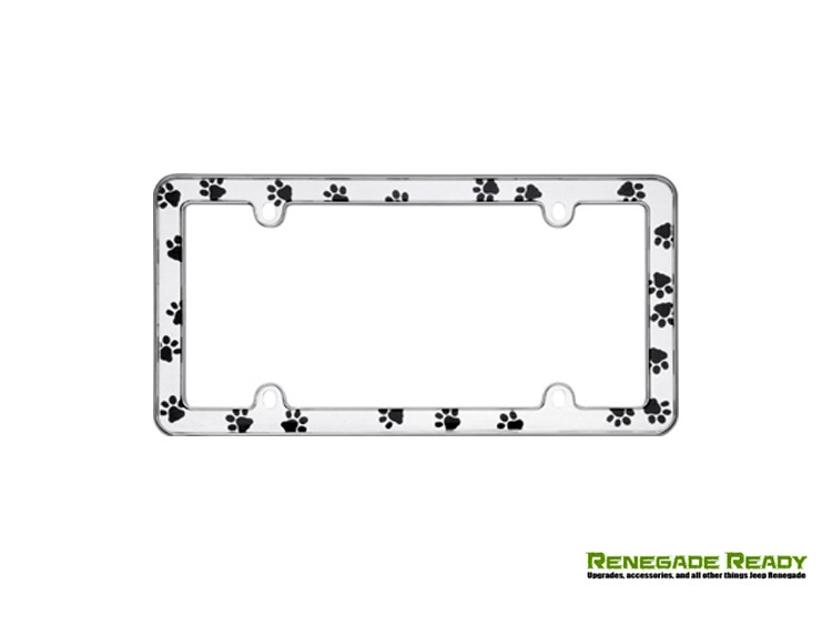 License Plate Frame - Paws