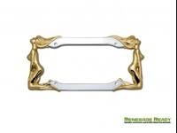 License Plate Frame (1) - Twins in Chrome and 24K